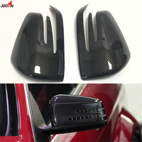 Carbon Fiber Look Side Wing Rearview Mirror Cover Trim For Mercedes Benz ML Class W166 GL GLS X166 GLE W166 / Coupe C292