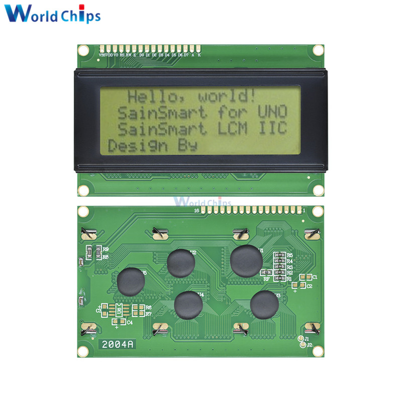 2004 204 20x4 Character LCD Display Module HD44780 Controller Yellow Blacklight For Arduino