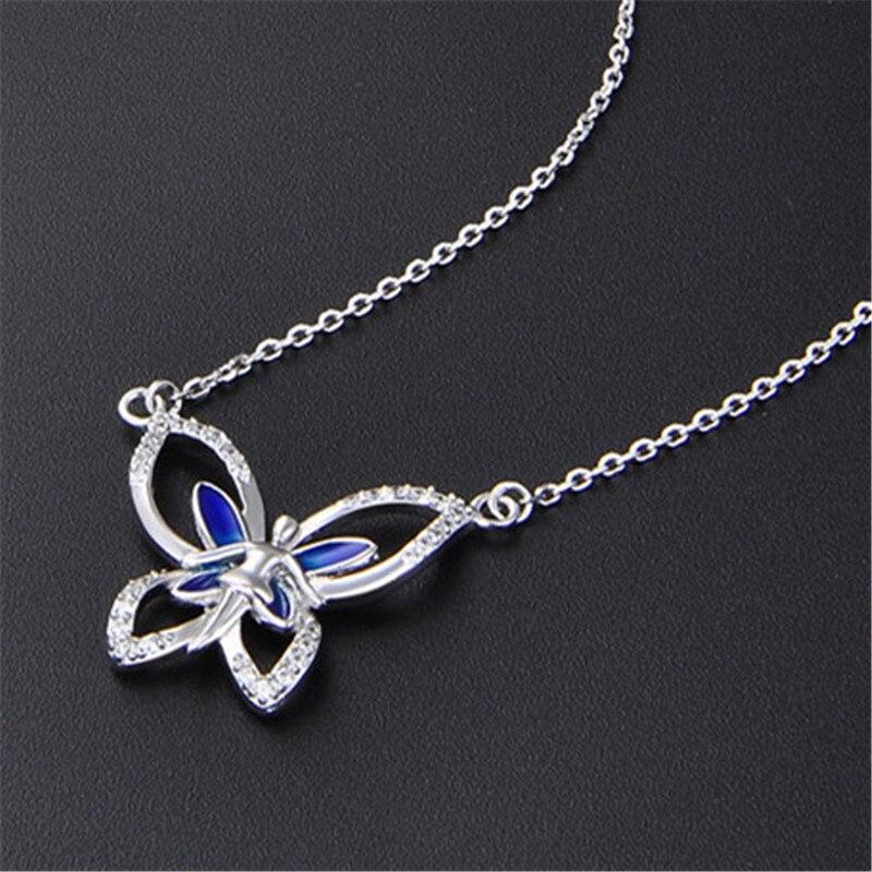 Papillon de luxe haut polonais comme un miroir 925 collier en argent, fournisseur de bijoux en argent de chine