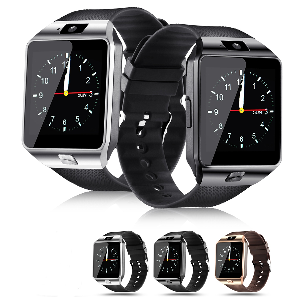 Hxairt DZ09 reloj inteligente con cámara reloj de pulsera Bluetooth deporte dispositivos tarjeta SIM TF Smartwatch para teléfonos Android IOS