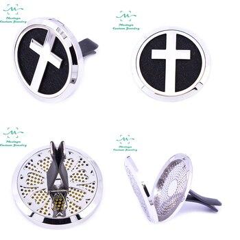 Mesinya Cross (38mm) Air Freshener Magnet Diffuser 316L S.Steel Aromatherapy Vent Clip Essential Oil Car Diffuser Lockets