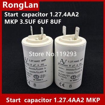 [BELLA] [New Original] ARCOTRONICS Motor inverter start  capacitor 1.27.4AA2 MKP 3.5UF 6UF 8UF inverter operation panel jvop 180 new original