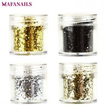 1 Box Gold/ Silver/ Black Nail Dust Sequins Mix Hexagaon Glitter Acrylic Powder Art Decoration 4 Colors for Choice 10g