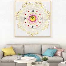 special-shaped diamond painting pearl clock wall picture decoration 5d diamond embroidery lay-out cross stitch living room new