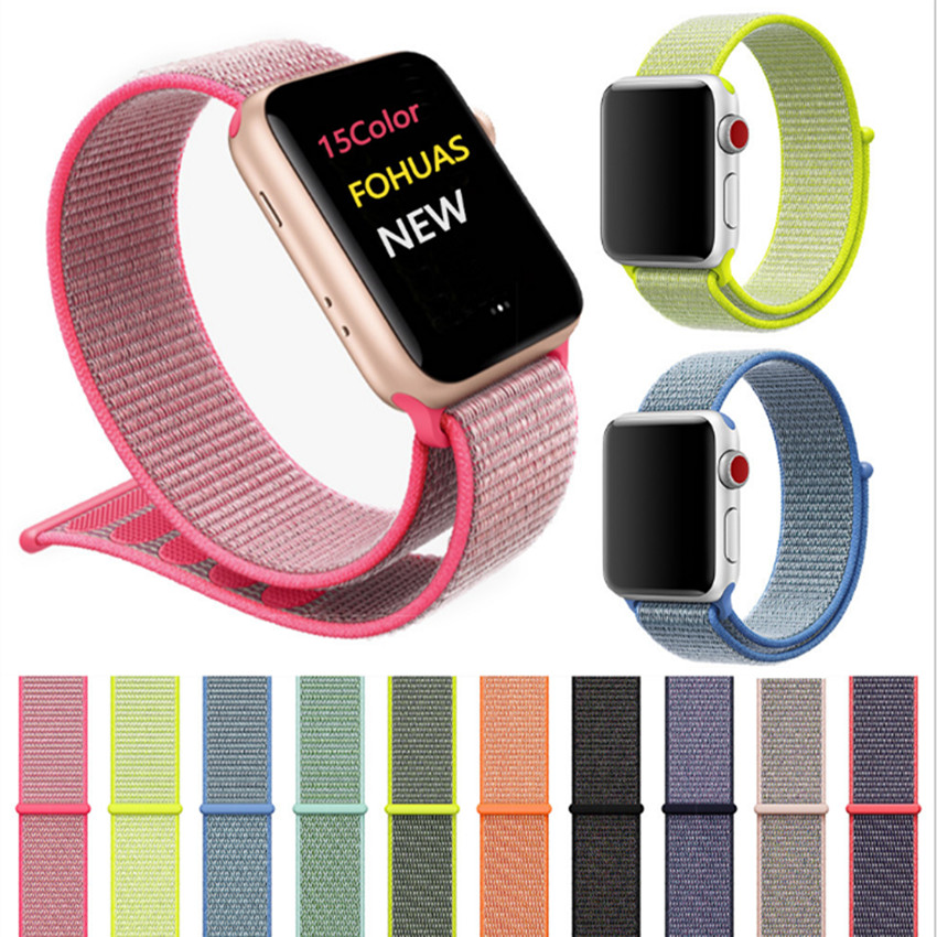 Woven Nylon band strap for apple watch band 42mm 38 mm sport fabric nylon bracelet watchband for watch 3/2/1-in Phone Accessory Bundles & Sets from Cellphones & Telecommunications    1