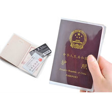 Akcesoria podróżne klasyczny PVC wodoodporny przezroczysty paszport posiadacz karty ID przypadek Business Pass Port Credit portfele Bag tanie tanio Stałe biznes paszport etui dowód osobisty posiadacz karty PU skórzane tanie walizka paszport obejmuje portfele 14cm 19cm