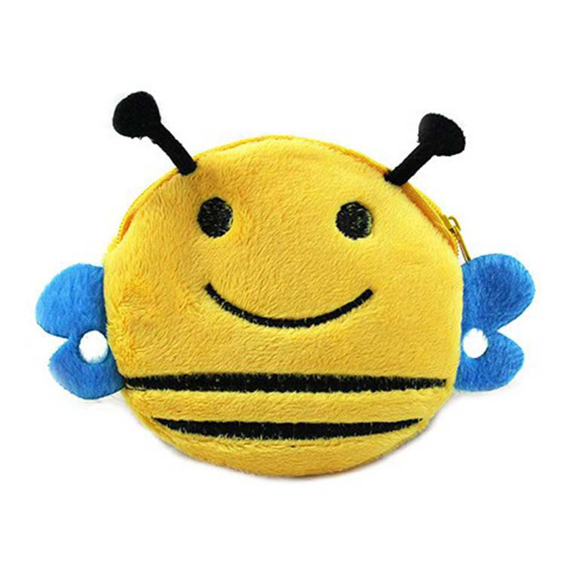 XYDYY Children Cartoon Wallet Cute honeybee Zipper Change Coin Purse Small Money Purse Kids Girl Women Pouch cute girl hasp small wallets women coin purses female coin bag lady cotton cloth pouch kids money mini bag children change purse