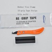 Набор для гольф-клуба, резиновые тиски+ инструмент Regrip, установка, сменная сталь+ крюк, нож для ножей+ 13 штук лента-липучка