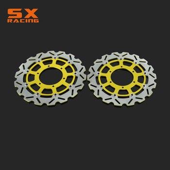 Motorcycle Black & Gold Front Floating Brake Disc Rotor For SUZUKI GSXR600 GSXR750 08 09 10 11 12 13 14 GSXR1000 2009-2014