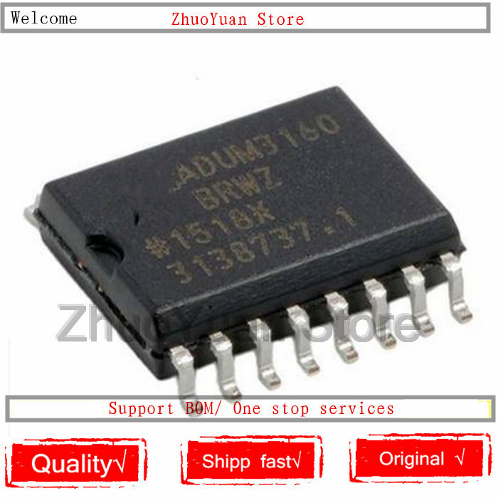 1PCS/lot New Original ADUM3160 ADUM3160BRWZ IC Chip SOP-16