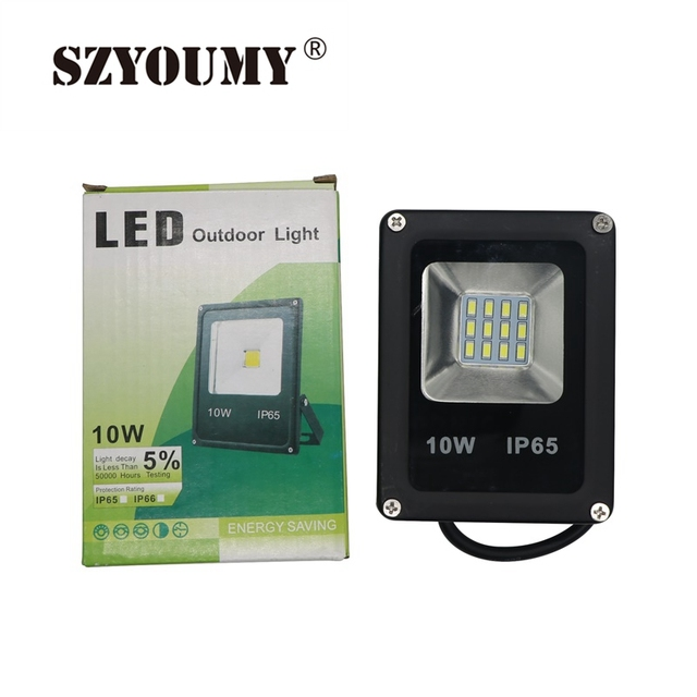 SZYOUMY Super Bright 10W 20W Outdoor LED SMD Flood Lights Waterproof Security Garden Square Spotlight Floodlight