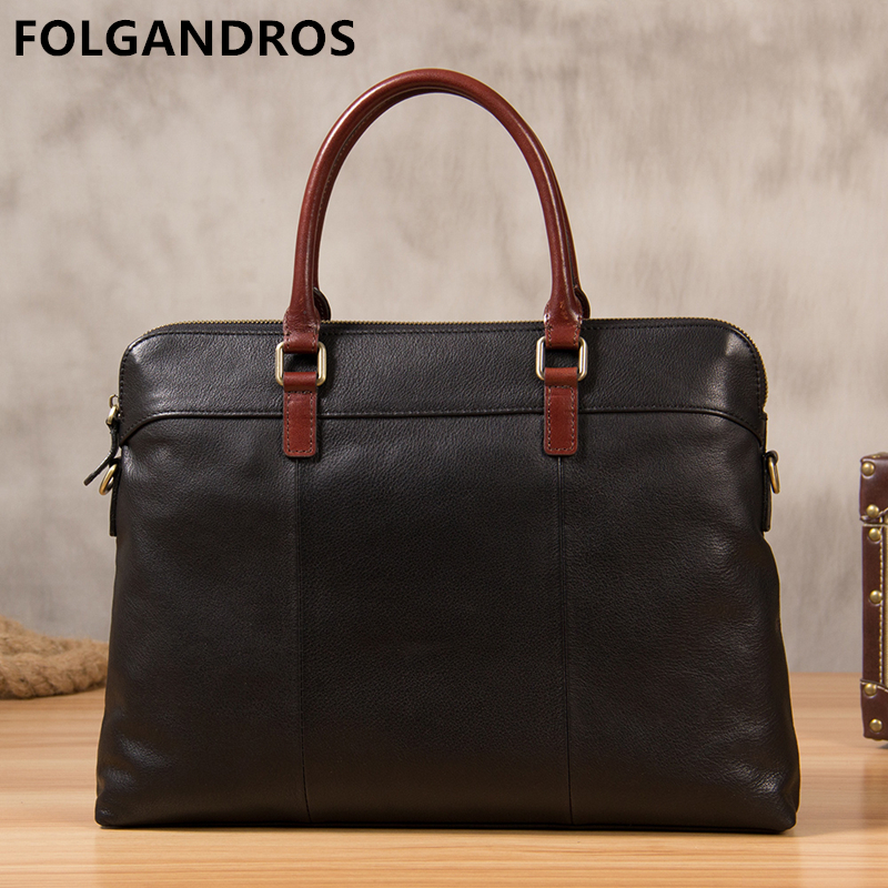2019 Mens Brand Genuine Leather Briefcases Designer Handmade Soft Cowhide Briefcase 14 Laptop Document Crossbody Shoulder Bags2019 Mens Brand Genuine Leather Briefcases Designer Handmade Soft Cowhide Briefcase 14 Laptop Document Crossbody Shoulder Bags