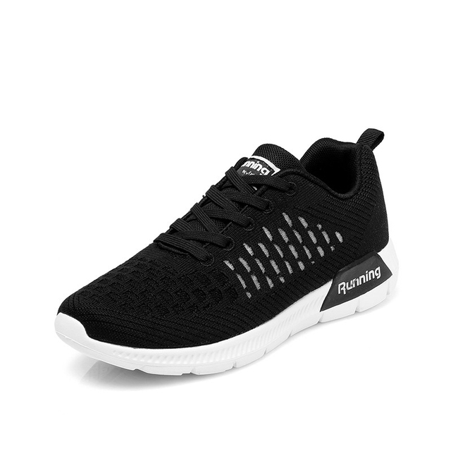 Women's Shoes Lightweight Running Sneakers Breathable Lady Sport Shoe Damping Outdoor Fitness Walking Jogging Zapatos Black 7.5