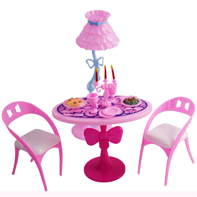 Aliexpress.com : Buy Barbie Doll Dining Table Toys Furniture ...