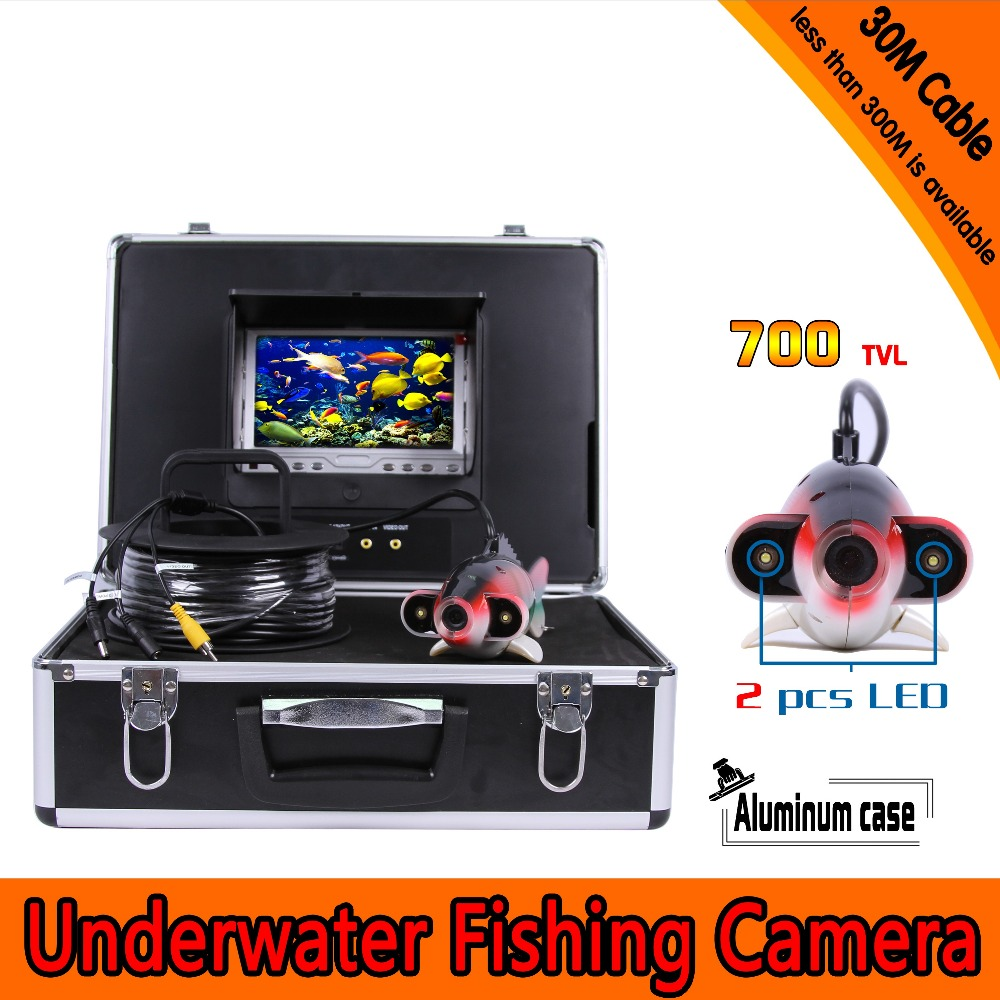 (1 Set) 30M Cable 7 inch Color Monitor HD 700TVL line Waterproof Fish Finder Underwater Fishing Camera System CMOS surveillance buy monitor cable