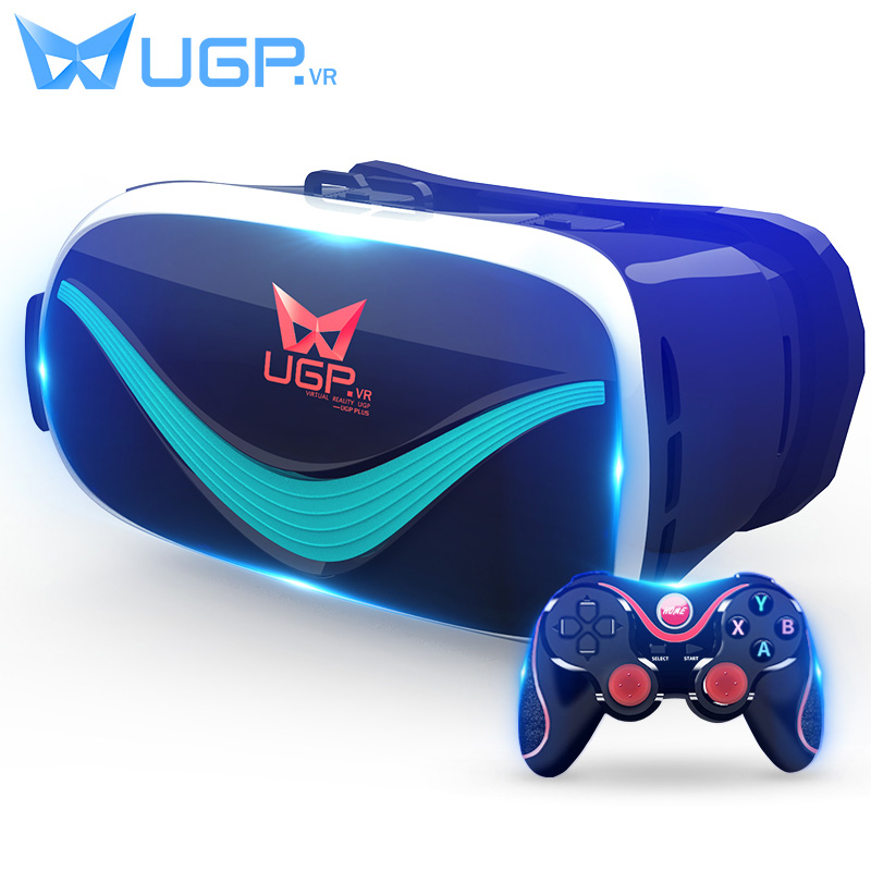UGP V3 VR Google Cardboard Virtual Reality 3D Glasses Immersive With Bluetooth Gamepad For 3.5-6.0 Inch Smartphones