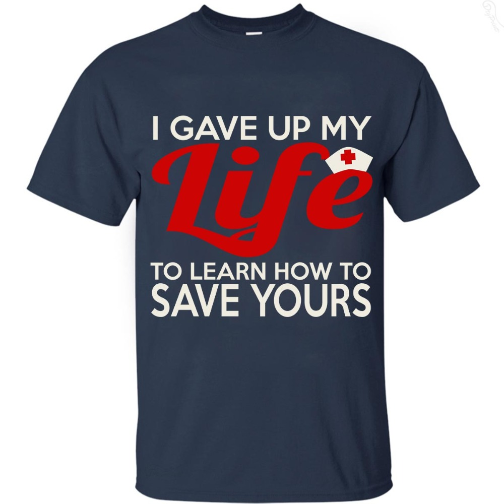 2019 hot man t-shirt Summer short sleeve, I Give Up My Life print tee , EU size, fast shipping