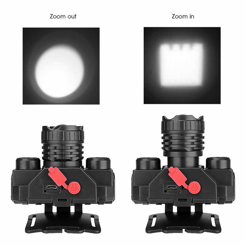 Led Far V6/L2/T6 Zumlanabilir 3 modu far baş feneri el feneri Kafa lambası 18650 pil balıkçılık Kamp