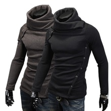 ZOGAA New Brand Men Turtleneck Plus Size Sweater Men's Fashion Thermal Long Sleeve Pullovers Thin Wool Sweater Hoodie