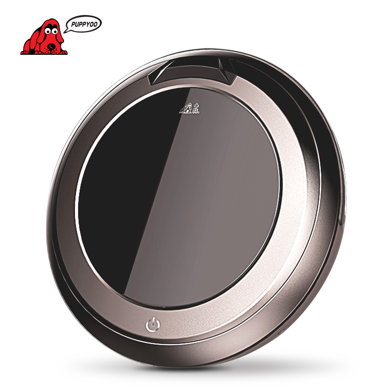 PUPPYOO Multifunctional Intelligent Robotic Vacuum Cleaner Self-Charge Home Appliances Vacuum Remote Control Side Brush V-M611 chunghop rm l7 multifunctional learning remote control silver