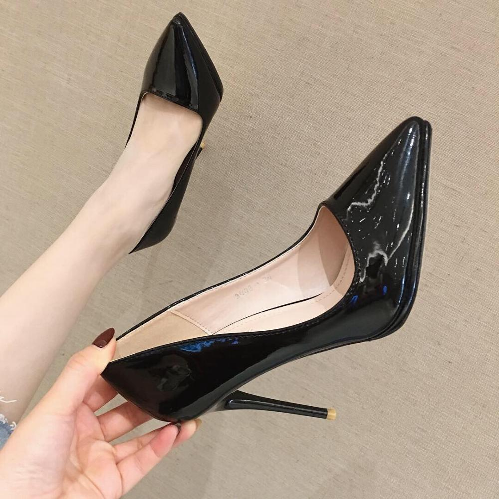 Women Pumps Heeled <font><b>Shoes</b></font> Nude Pointed Toe <font><b>Sexy</b></font> High Heel <font><b>Shoes</b></font> Stiletto High Heels Ladies <font><b>11</b></font> cm <font><b>Size</b></font> 35-40 image