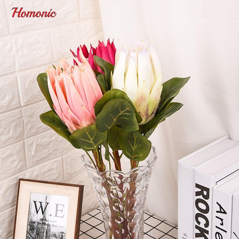 groot kunstbloemen boeket Zuid-Afrika nationale bloem Protea - Feestversiering en feestartikelen - Foto 3