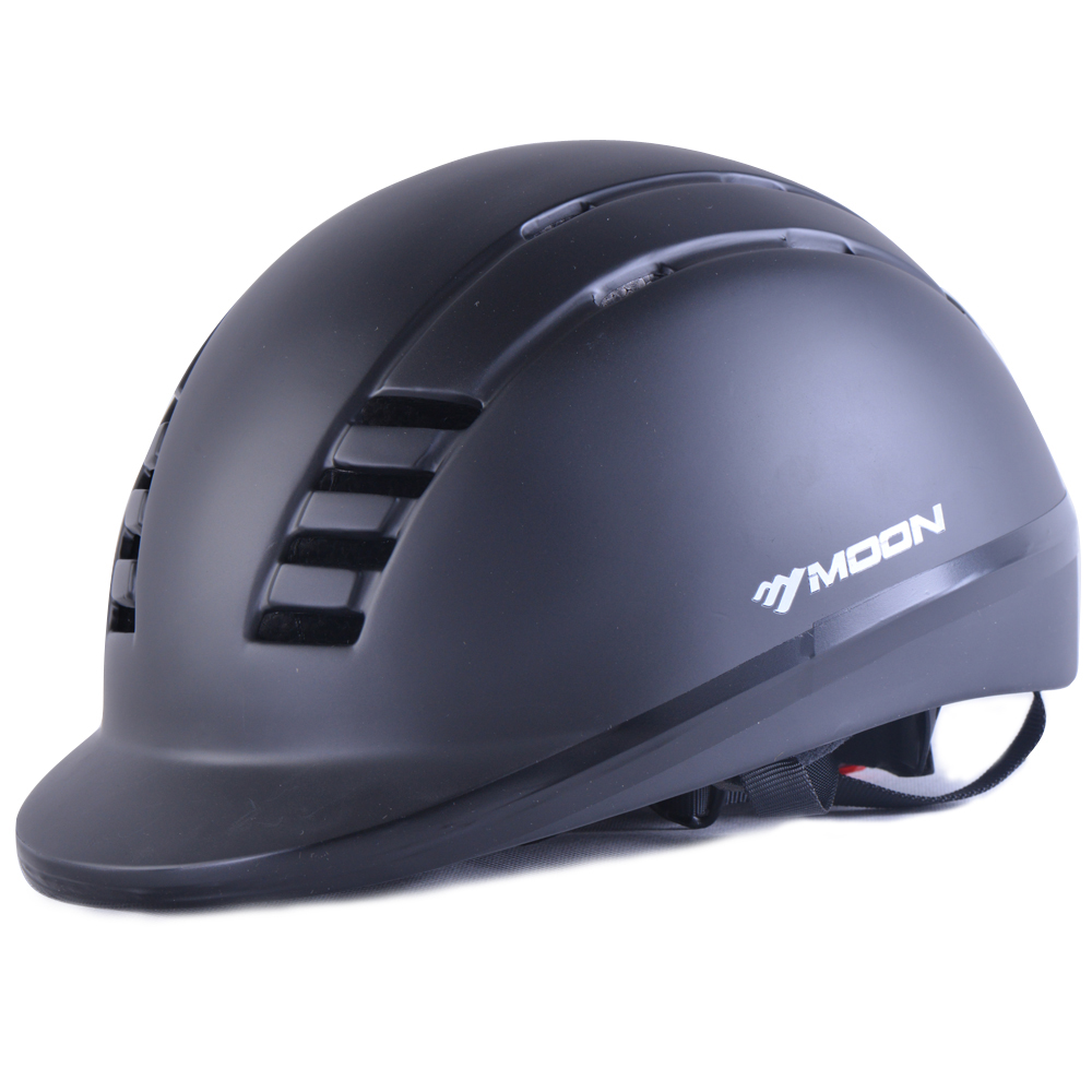 Moon Конный шлем Верховая езда шлем черный Открытый спортивный инвентарь