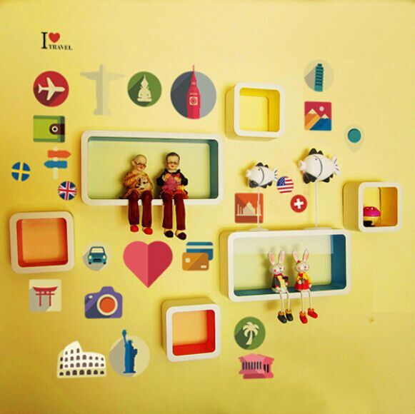 Creative Meaning Of Travel DIY Free Stickers Wall Notebook Living Room Wardrobe Home Decor Mural