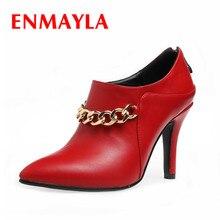 ENMAYLAผู้หญิงรองเท้าขนาด34-45คลาสสิกรองเท้าข้อเท้า3ของแข็งสีลื่นบนรองเท้าสำหรับฤดูใบไม้ผลิ/ฤดูใบไม้ร่วงพรรคและวันที่แฟชั่นรองเท้า