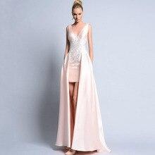 Modern A line Evening font b Dresses b font Long Maxi Gown Appliques Customized Elegant font