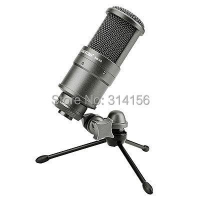 Prix pour Top qualité takstar sm-8b microphone à condensateur microphone de l'ordinateur l'enregistrement de la chanson avec une carte son, sans valise