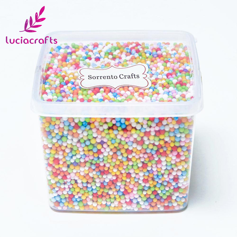 Lucia Crafts 1Box/lot(Approx 15000pcs) 2-4mm Mini Styrofoam Foam Balls For Wedding/Party DIY Decoration Accessories Z0201