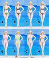 ACPLAY Toys 1/6 Scale ATX020 Pink/Green/Leopard Bikini Swimsuit For 12'' Phicen Seamless Body Figure