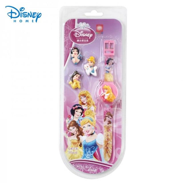 100% Genuine Disney Brand Watch men girls Cinderella/belle princess birthday gifts clock Watch 89004-05