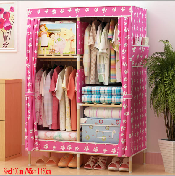 Factory Price Solid Wood Wardrobe Closet length 100 cm