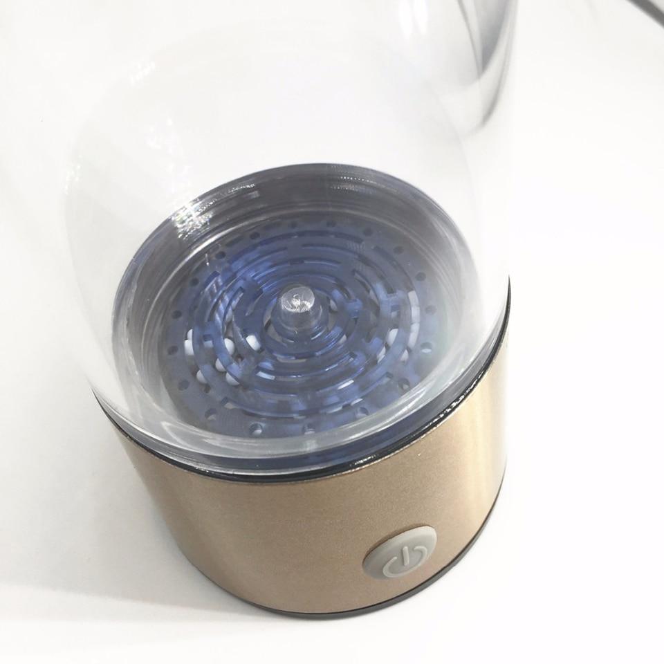 High Quality Hydrogen Water Bottle H2 Rich Health Alkaline Water Ionizer 400ML Brand Hydrogen Water Generator USB Charge WAC007
