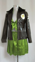 APH Axis Powers Hetalia America pary dress Green Outfits lady Cosplay Costume