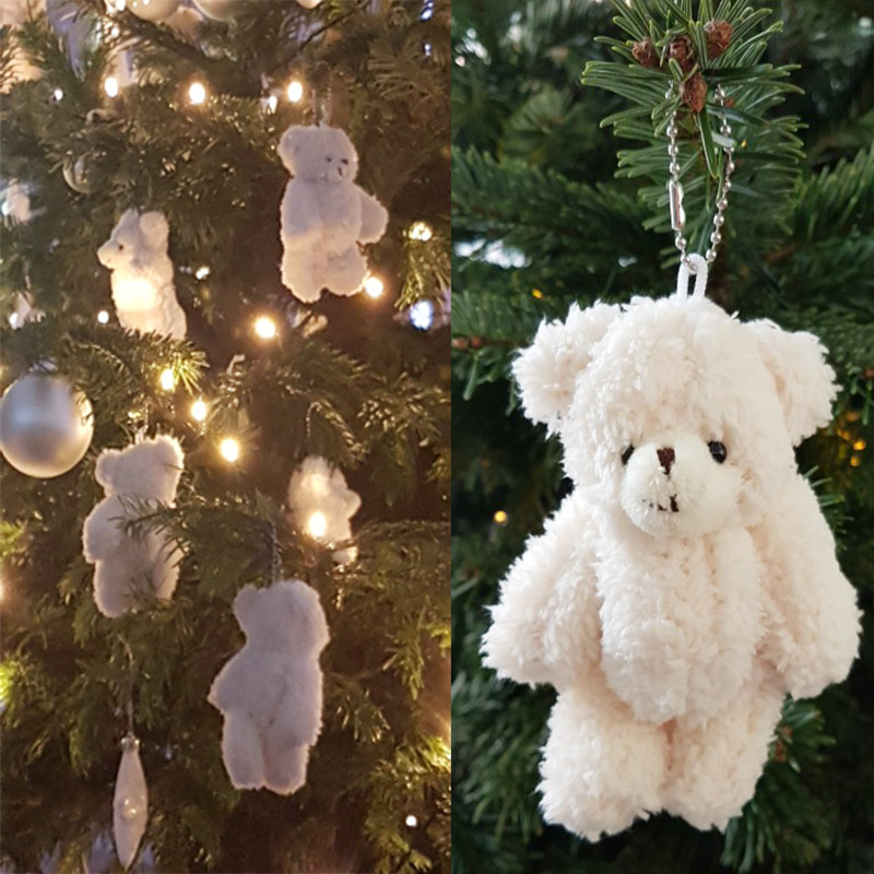 Image 3 - 50pcs/lot Mini Joint Teddy Bear plush toys chain white gummy bears 12cm animal for Wedding peluches bicho ursinho de pelucia-in Stuffed & Plush Animals from Toys & Hobbies