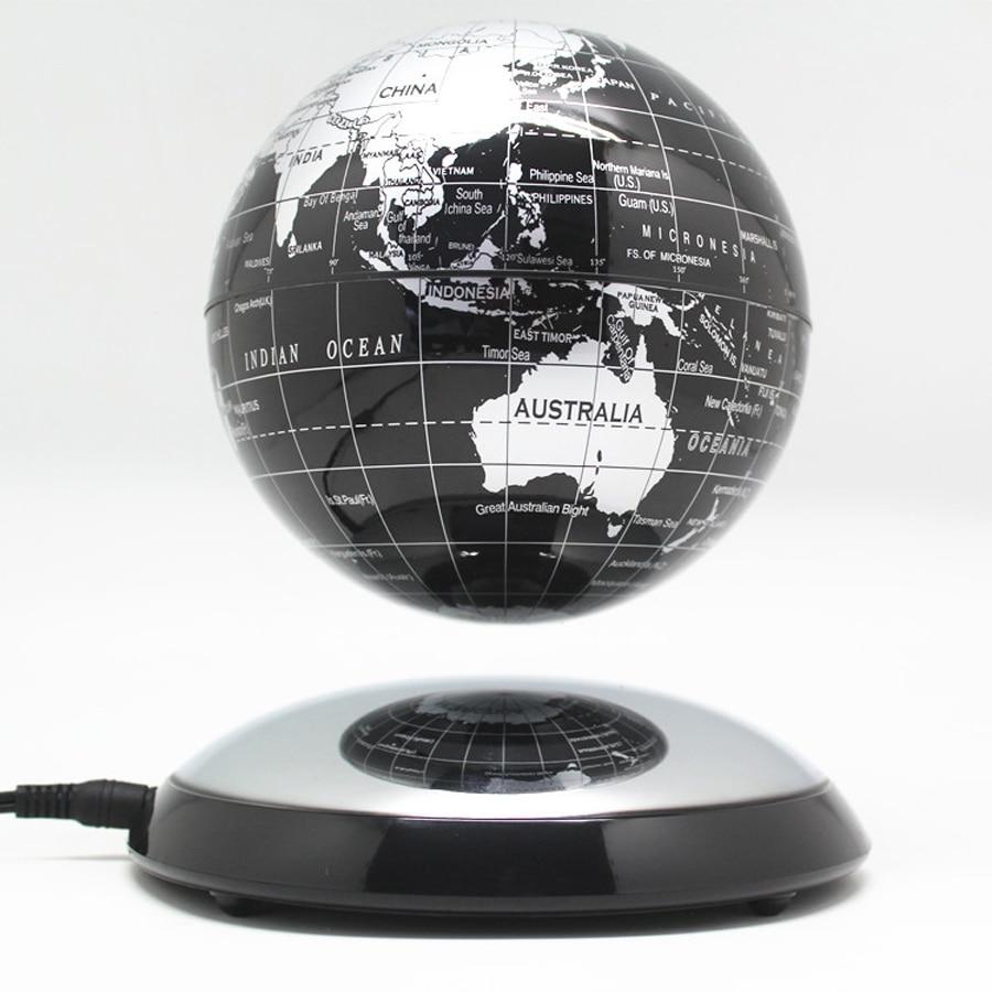 6 Inches C Shape LED Magnetic Levitation Maglev Floating Globe World Map Gifts
