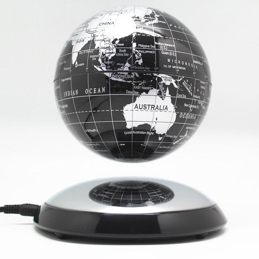 6 pouces créatif lévitation magnétique Globe flottant carte du monde le meilleur décor de bureau noël entreprise anniversaire cadeau-in Figurines et miniatures from Maison & Animalerie    1