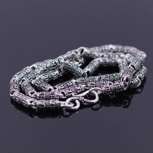 S925 sterling silver jewelry wholesale Thai Silver Mens mantra antique necklace