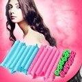 Mujeres Señora magia Automática bigudíes de pelo Rodillo de Pelo Trenzado Kits Grandes Olas Caracol Rizos Rulos De Plástico suave Giro Espiral Círculo