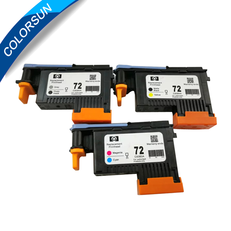 Colorsun For HP 72 DesignJet Printhead C9380A C9383A C9384A For HP Designjet T610 T620 T770 T790