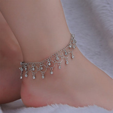 Crystal Charms Women Yoga Anklets Summer Beach Ankle Bracelet For Girl Foot Chain Indian Dance Anklets Jewelry Wholesale lWD150 цена