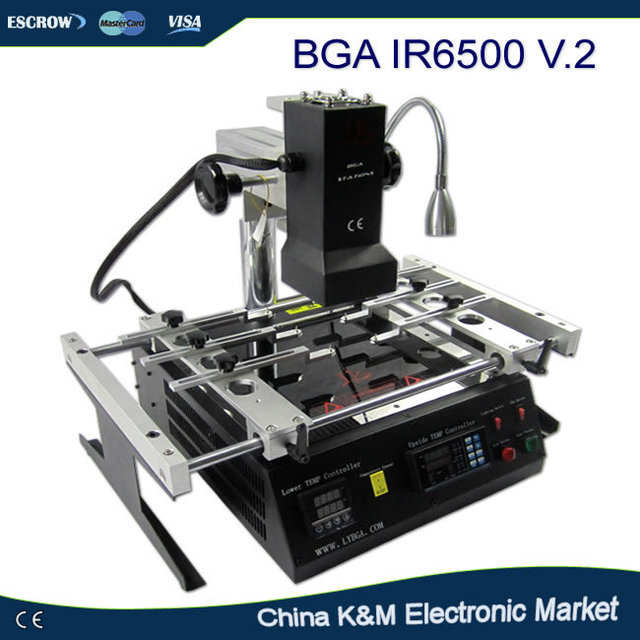 Russa Fiscal-frete grátis LY IR6500 V.2 IR sistema de solda Infravermelho estação de retrabalho BGA máquina reballing