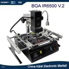 Russische Steuer-kostenloser versand LY IR6500 V.2 IR BGA überarbeitungs-station löten system Infrarot reballing maschine