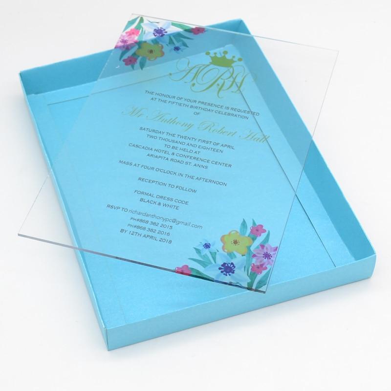 Advanced Customization Wedding Invitation Card Uv Printing