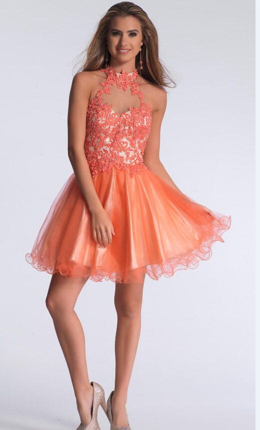 Popular Short Coral Homecoming Dresses-Buy Cheap Short Coral ...