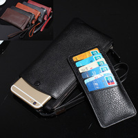 2in1 Wristband Zipper Genuine Leather Wallet Pouch Coque Cover Case For OnePlus 1 3T 3 One