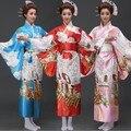 Chegada nova Mulheres Japonesas Originais Trajes de Dança Desempenho Vestido Tradicional Yukata Kimono com Obi One Size
